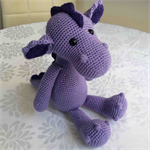 Crocheted Purple Dragon called Penelope