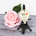 25 x Hot air balloon customised wedding thank you tags