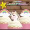 30x mini Unicorn and Rainbows  EDIBLE cupcake cake toppers stand up birthday