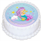 Little Mermaid Edible Icing  Personalized Circle Cake Topper