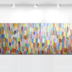 Original abstract painting 'Solar iris' - by Tatiana Georgieva MADE2ORDER