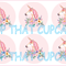 Pink Unicorn circle EDIBLE cupcake cake toppers stand up birthday