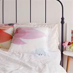 Blossom Pastel Pink Throw Pillow – pom pom, soft, dreamy, flower, cushion