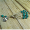 KNITTING Stitch Markers Stitch Counter Knitting Diva Set of 6 Teal Glass Beads