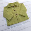 Little Cardigan - Hand Knitted - Size 00 - 100% Australian Merino Wool