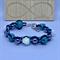 Turquoise Skulls & Roses Beaded Bracelet