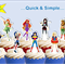 Superhero Girls EDIBLE cupcake cake toppers stand up birthday