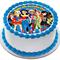 Superhero Girls Edible Wafer Cake Topper Circle Personalized