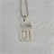 Pendant made from a vintage silver plated fork