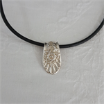 Pendant necklace made from vintage silver plated fork handle