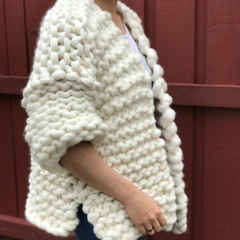 Chunky Knit Merino Wool Cardigan