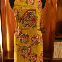 Apron - Kimono Fan - Mustard