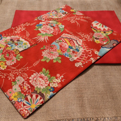 Placemat - Set of 4, 6 or 8 - Kimono Fan Red