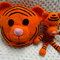 Tiger, READY TO POST, bed cushion, crochet toy, boy gift