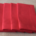 Luncheon Napkin Red - Set of 4, 6 or 8