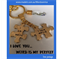 I LOVE YOU-WEIRD IS MY PERFECT- keyring - bagcharm