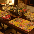 Placemat - Set of 4, 6, 8 - Kimono Fan Mustard