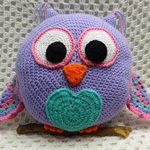 Owl, READY TO POST, bed cushion, crochet toy, girl gift