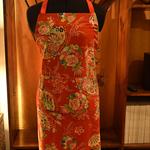 Red Apron - Kimono Fan
