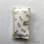 Pocket tissue holder -  Pineapple print