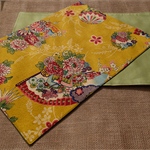 Mustard Placemat - Set of 4 - Kimono Fan