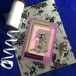 Heliotrope Fairy - Purple Pearlised Birthday Card and Envelope