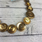 Button Necklace - Gold / Bronze Buttons - Button Earrings - Whimsy