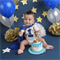 Royal Blue Little Prince Boys Cake Smash / 1st Birthday Outfit - 4 Piece Set