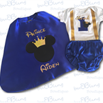 Mickey Prince Boys Cake Smash / 1st Birthday Outfit - 4 Piece Set