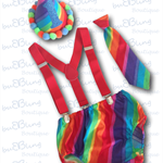 Rainbow Boys Cake Smash / 1st Birthday Outfit