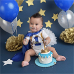 Royal Blue Little Prince Boys Cake Smash / 1st Birthday Outfit - 4 Piece Set
