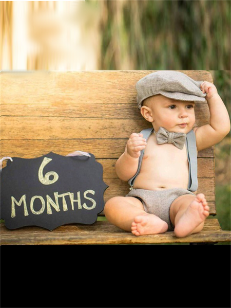 Grey Vintage Paperboy 6 Month Cake Smash / Birthday Outfit,