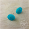 Turquoise / Teal Bubbles - Vintage - Two Hole Button - Stud Earrings