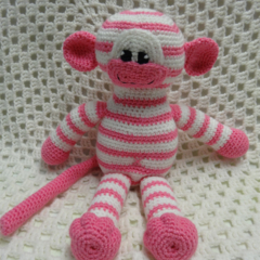 Monkey, READY TO POST,  Crochet Toy, Girl Gift