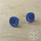 Blue - Two Hole - Button - Stud Earrings