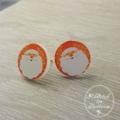Christmas - Santa - Stud Earrings