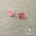 Pale Pink - Four Hole - Button - Stud Earrings