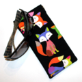 Padded Sunglasses Pouch in Cute Fox Fabric