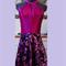 Ladies cocktail dress maroon/pink/purple