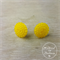 Yellow Bubbles - Vintage - Two Hole Button - Stud Earrings