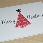 Merry Christmas card - origami tree