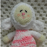 Lamb, READY TO POST,  Crochet Toy, Baby Girl Gift