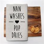Nan Washes Linen Tea Towel
