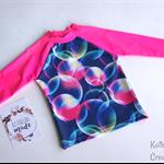 Bubble Print Rashie Swim top - Size 4