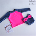 Pink and Denim Baby Swim Set - Size 1 - UPF50+