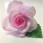 Edible Wafer Paper Rose Cake Topper - LIGHT PINK