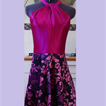 Ladies cocktail dress maroon/pink/purple