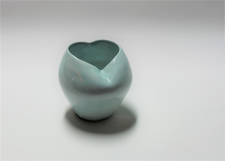 Heart-Shaped Pot, Light-Blue