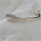 Bracelet made from the handle of a vintage silver plated spoon