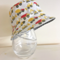 Baby/boy summer hat in small construction fabric